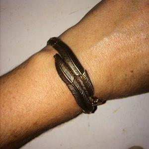 Jewelry - Alex And Ani Vintage 66 Feather Wrap Bracelet